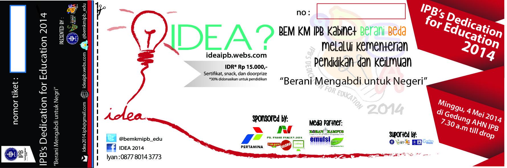 tiket #IDEA2014