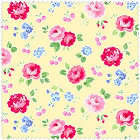 Pam Kitty Picnic  LH13027BUT Lakehouse Dry Goods Butter Floral