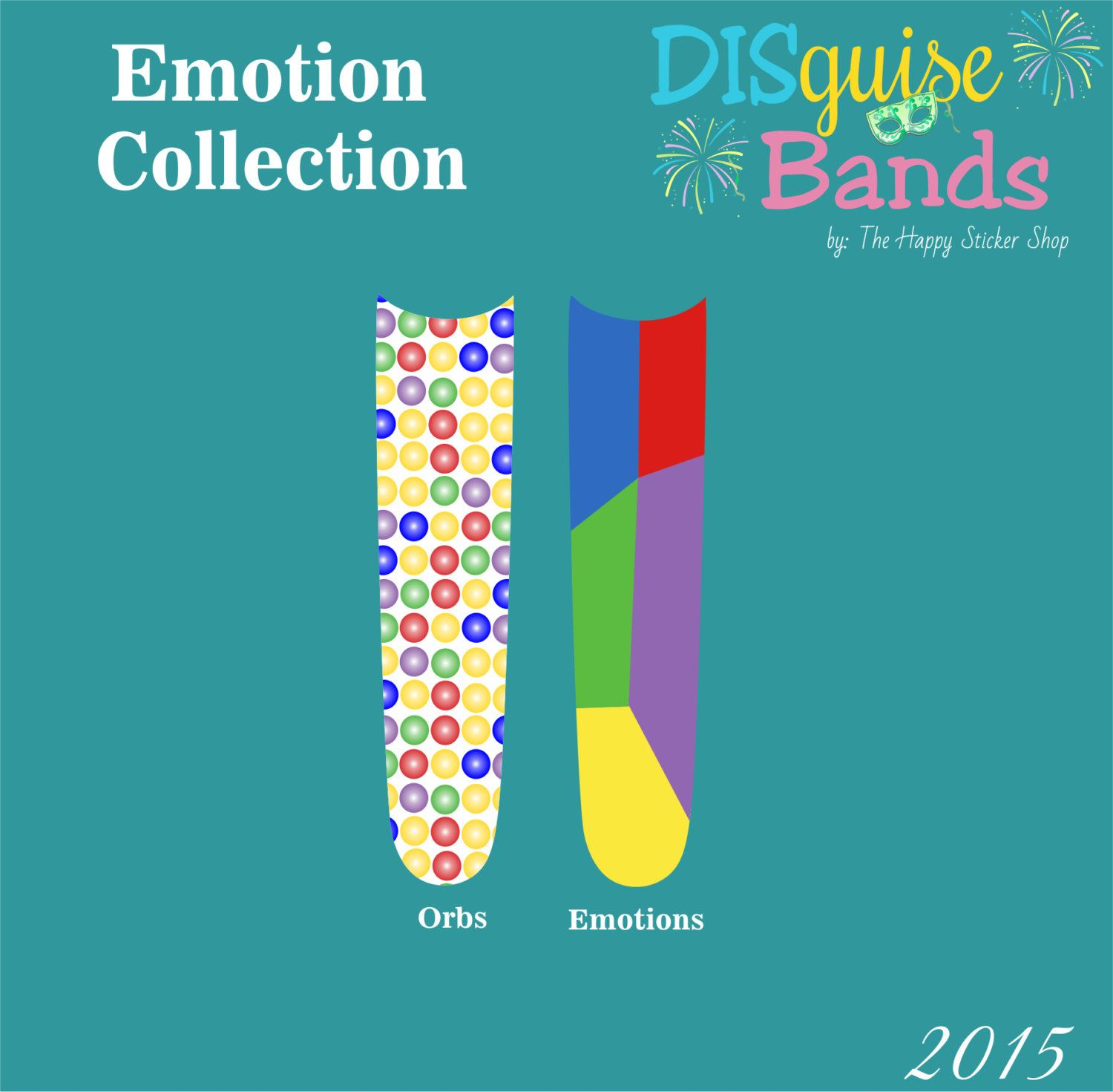 Emotions Collection Magic Band Decal DISguise Band Vinyl Decal To - Magic band vinyl decals