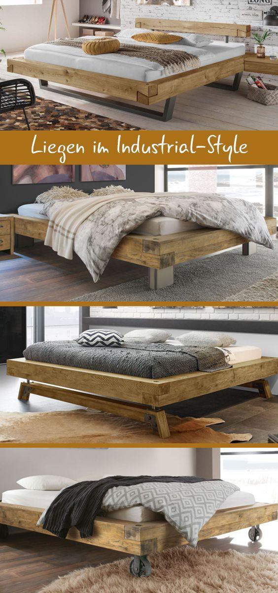 Der Industrial Style vereint tolle Holzoptik mit Metall - so - schlafzimmer betten günstig