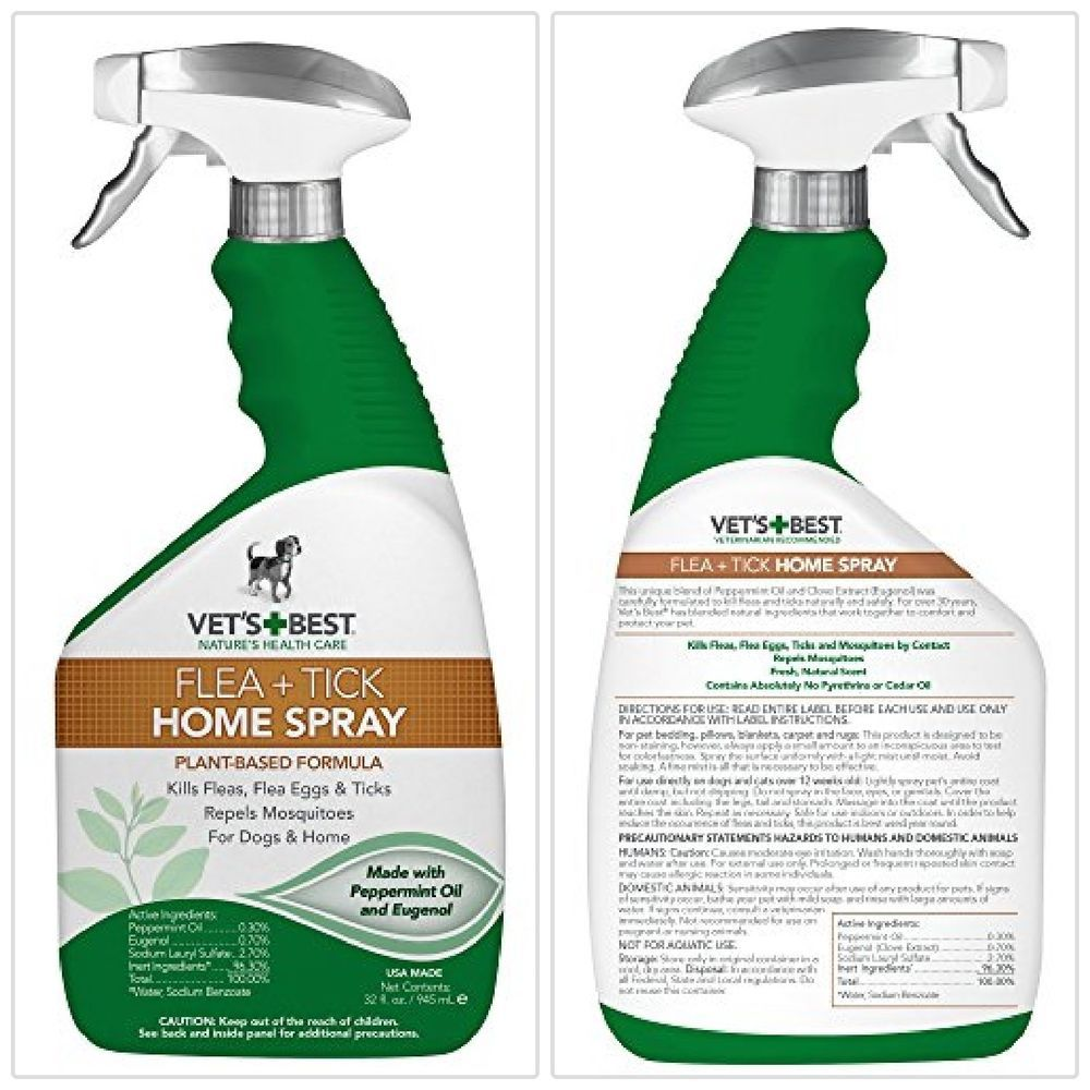 Vet's Best Flea and Tick Home Spray for Dogs and Home Anti