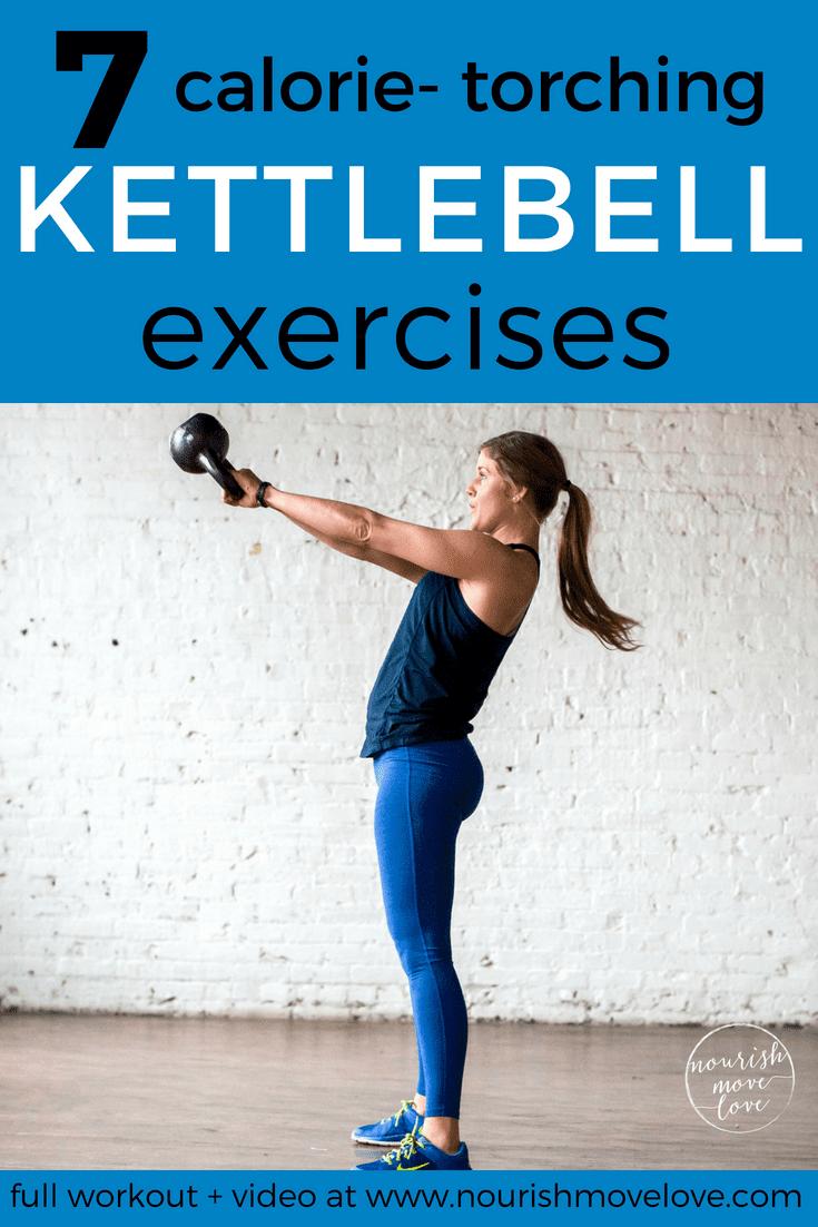 7 Calorie Torching Kettlebell Exercises   kettlebell exercises   kettlebell workout   HIIT workout  ...