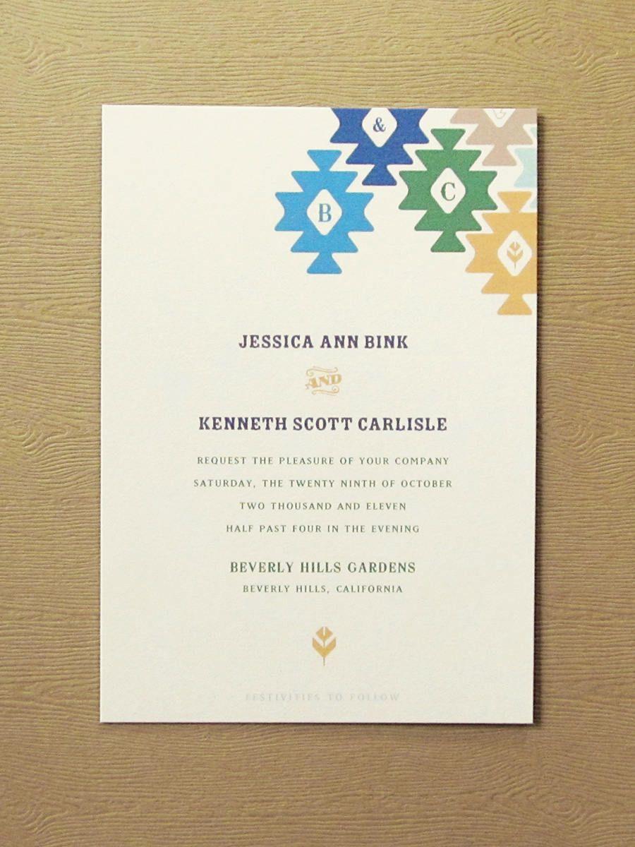 Catheña Mohave Inspired Western Desert wedding invitation, western ...