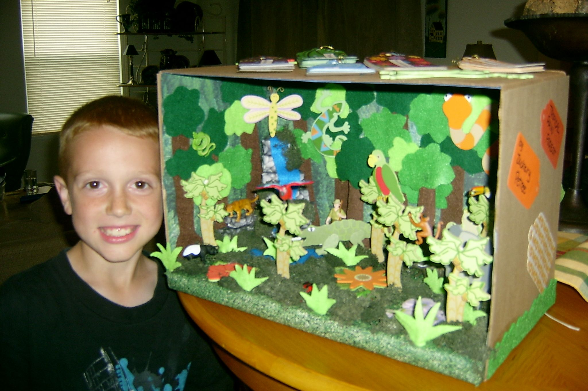 rainforest craft ideas for kids rainforest biome cardboard box craft paper and items 7086