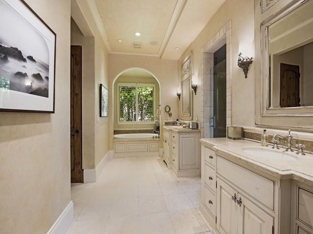 Traditional Master Bathroom Dual Split Vanities Mediterra - Bathroom vanities naples fl