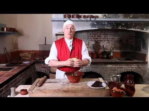Georgian cook-along: Chocolate Tart. A rich, chocolate custard tart – made using a red hot shovel! Recipe adapted to modern kitchens. Enjoy!