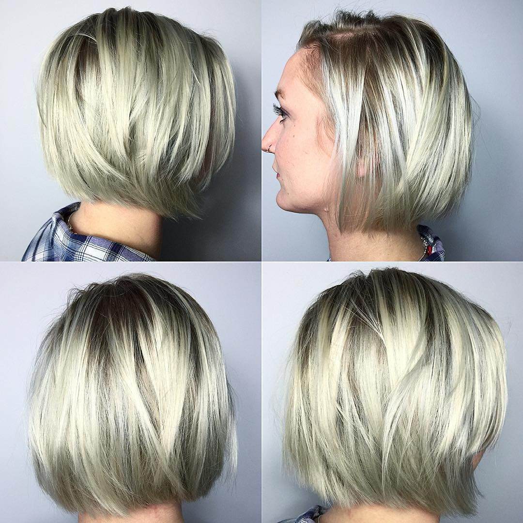 10 Most Flattering Bob Hairstyles for Round Faces 10  Edgy bob