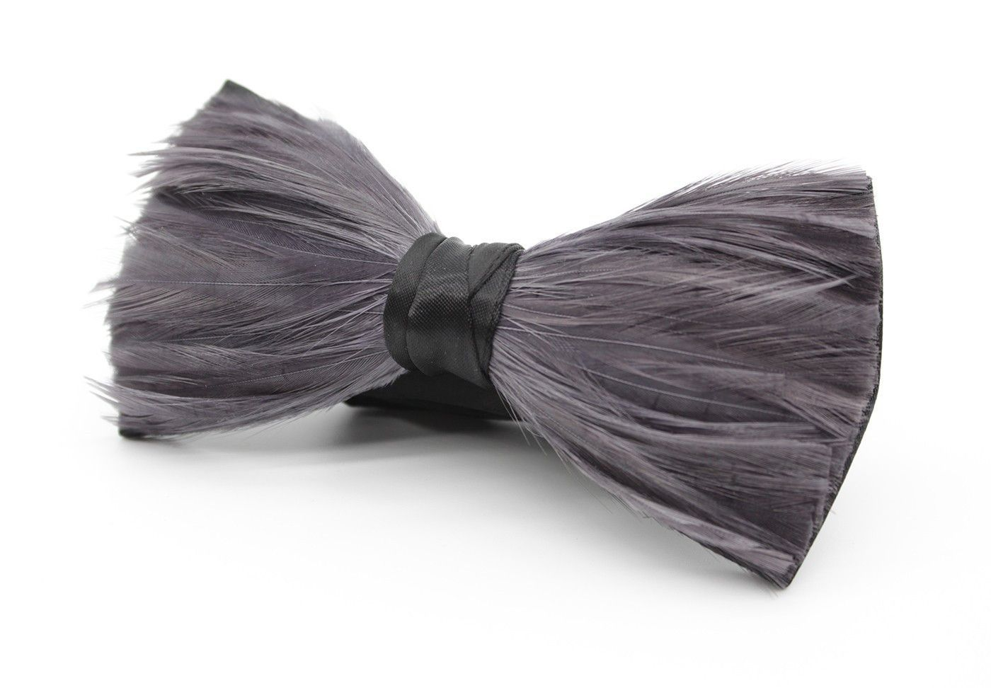 2da81f4dca92 Grey Tuxedo Feather Bow Tie  Our Grey Tuxedo made Feather Bow Tie is to fit  in with a wide variety of attire and is the perfect choice for laid-back ...