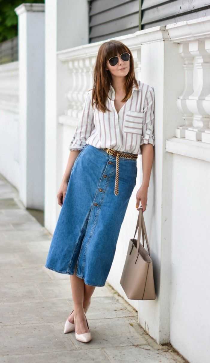 How To Wear: Button Front Skirts | Become Chic