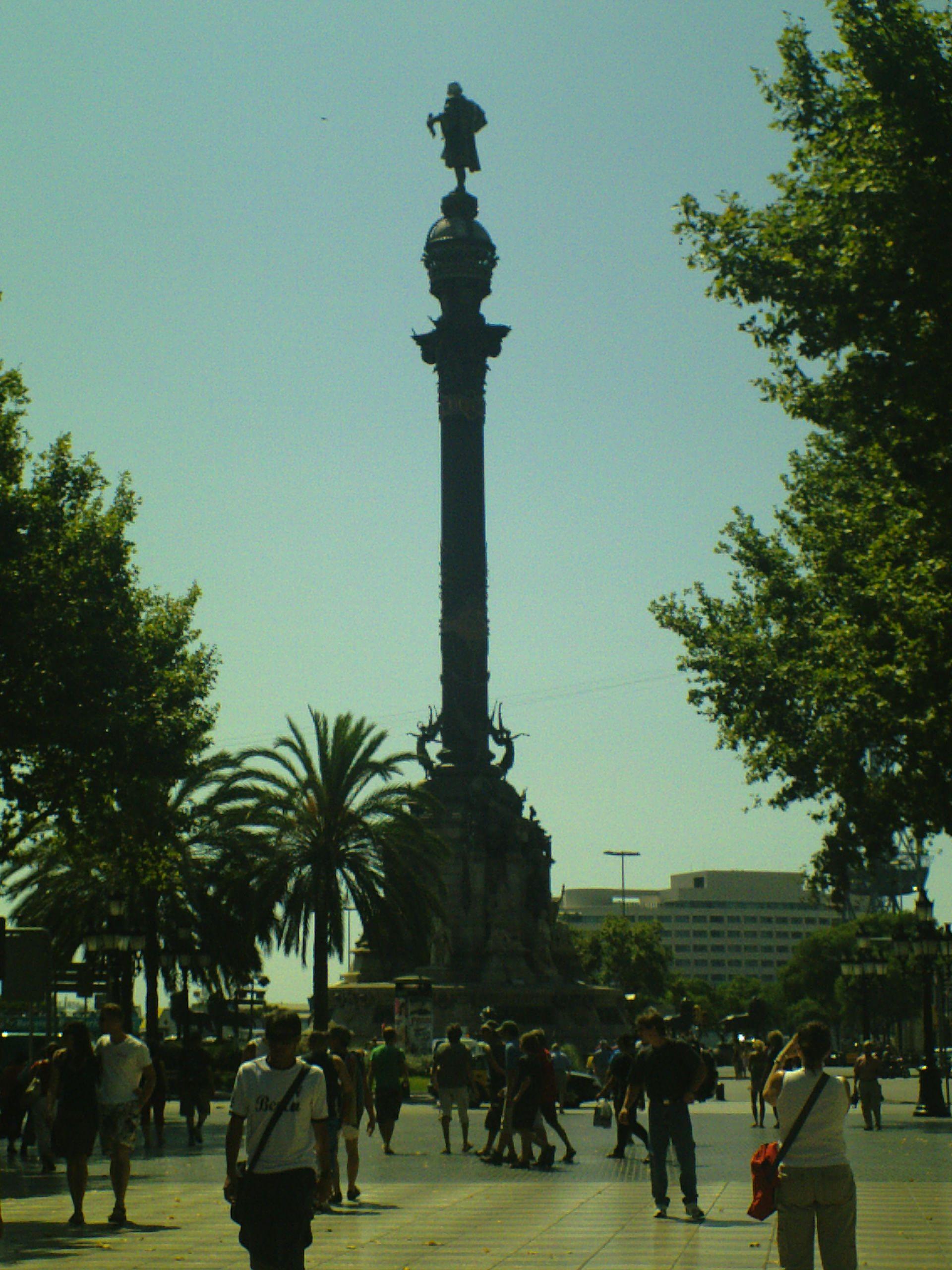 Monument a Colom en Barcelona, Cataluña