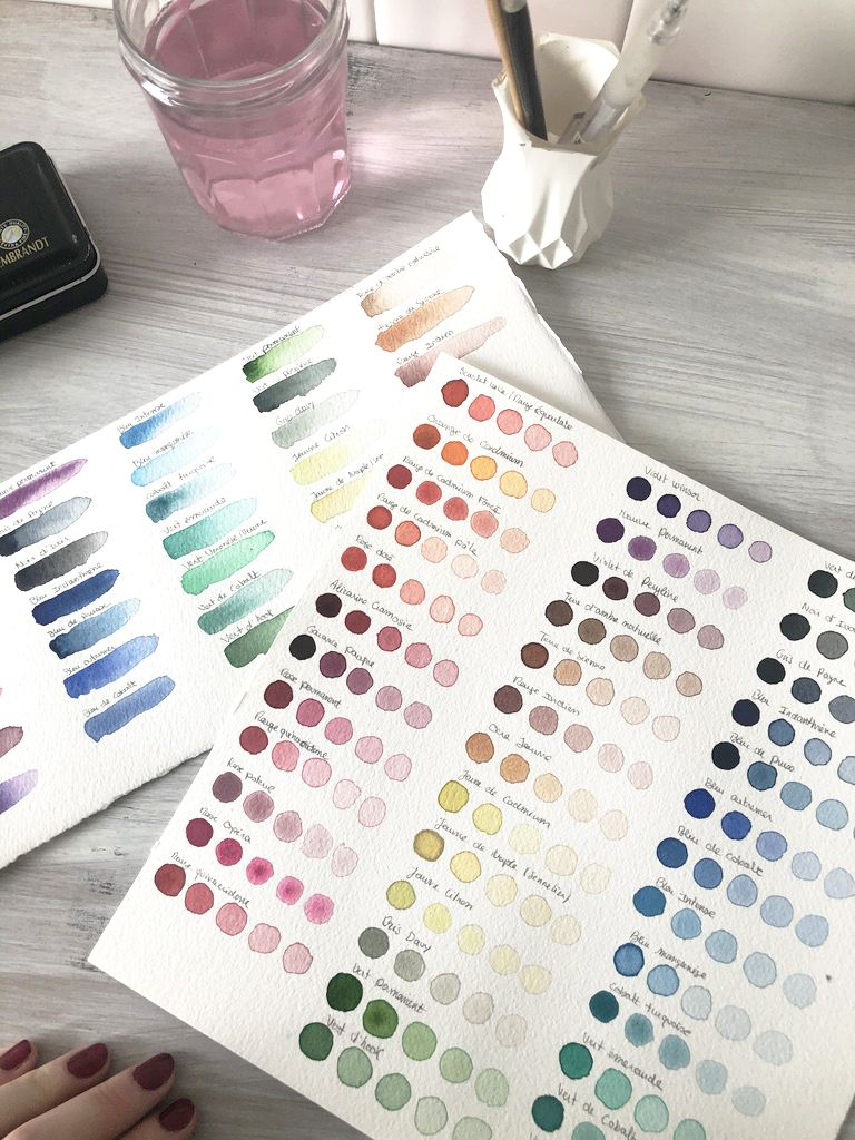 Aquarelle Par Ou Commencer Aquarelle Palette Aquarelle