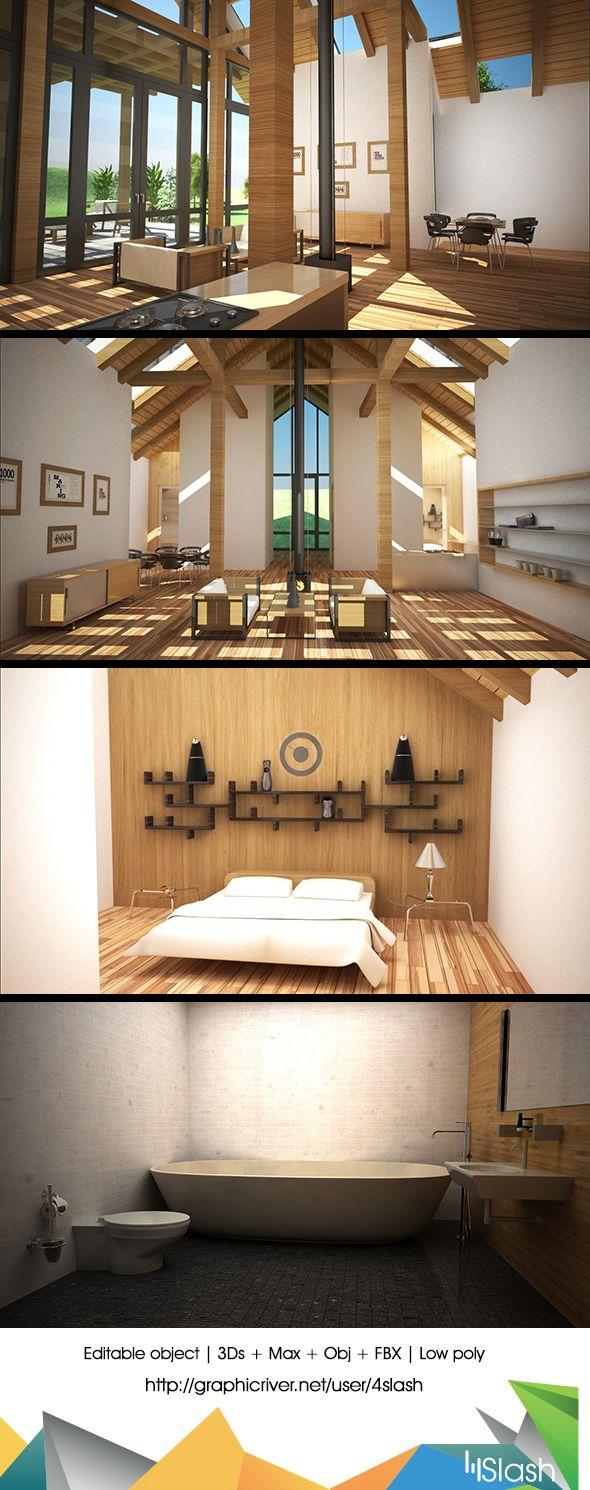 Elegant house interior room d models pinterest