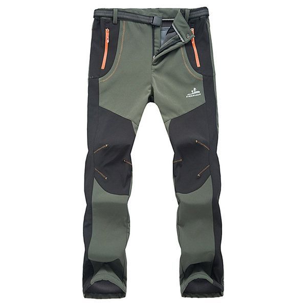 5a3432a329ac1 ... Camping Ski Climbing. Mens Outdoor Sport Pants Elastic Waist Soft Shell  Warm Fleece Lining Waterproof Quick-Dry Trouser