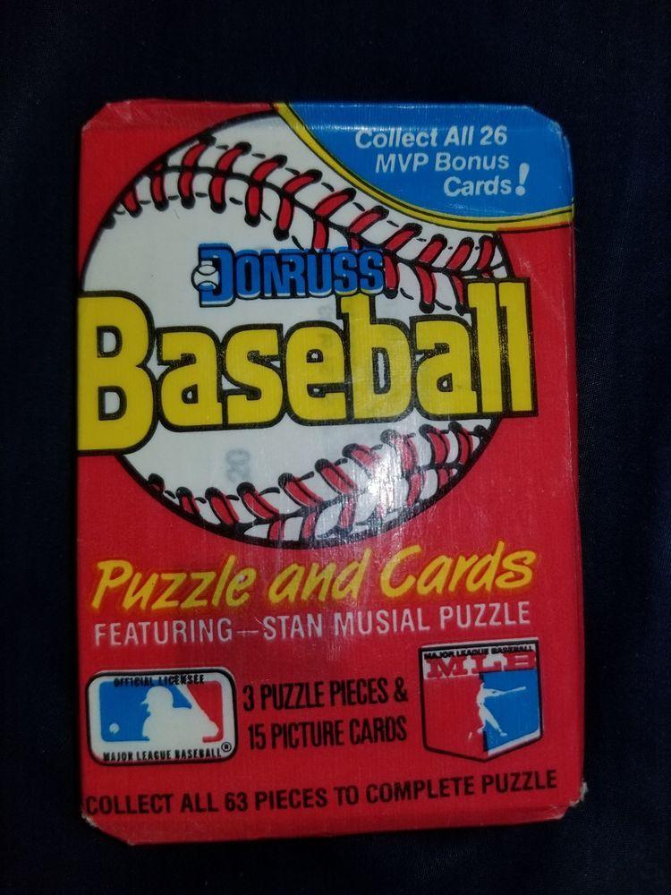 1988 donruss baseball cards puzzles unopened packs