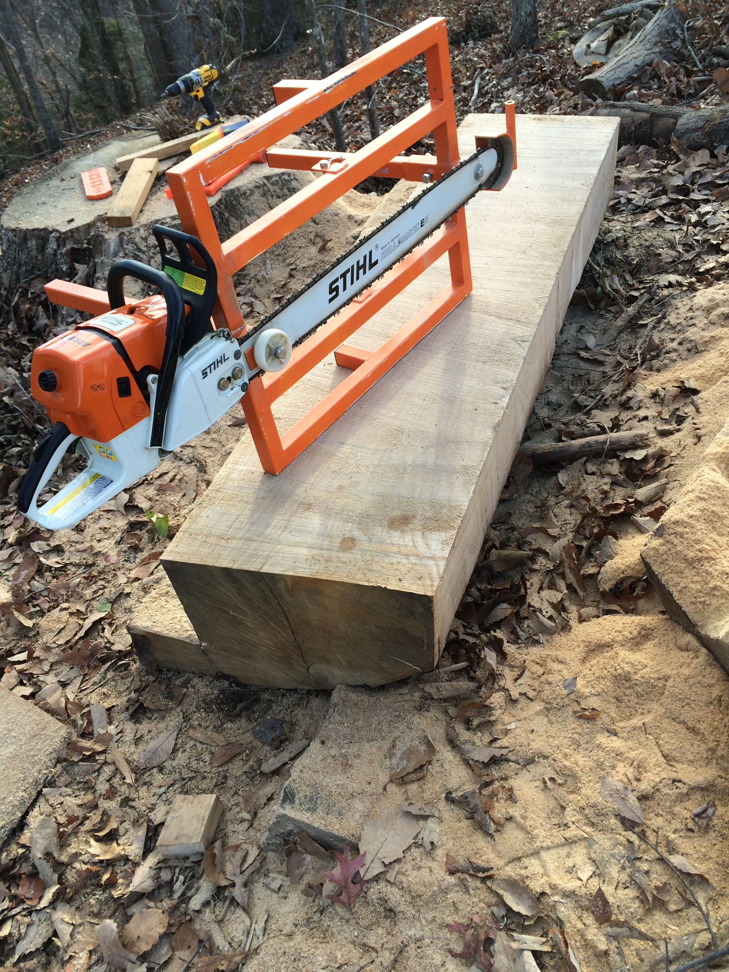 Homemade Chainsaw Sawmill Youtube