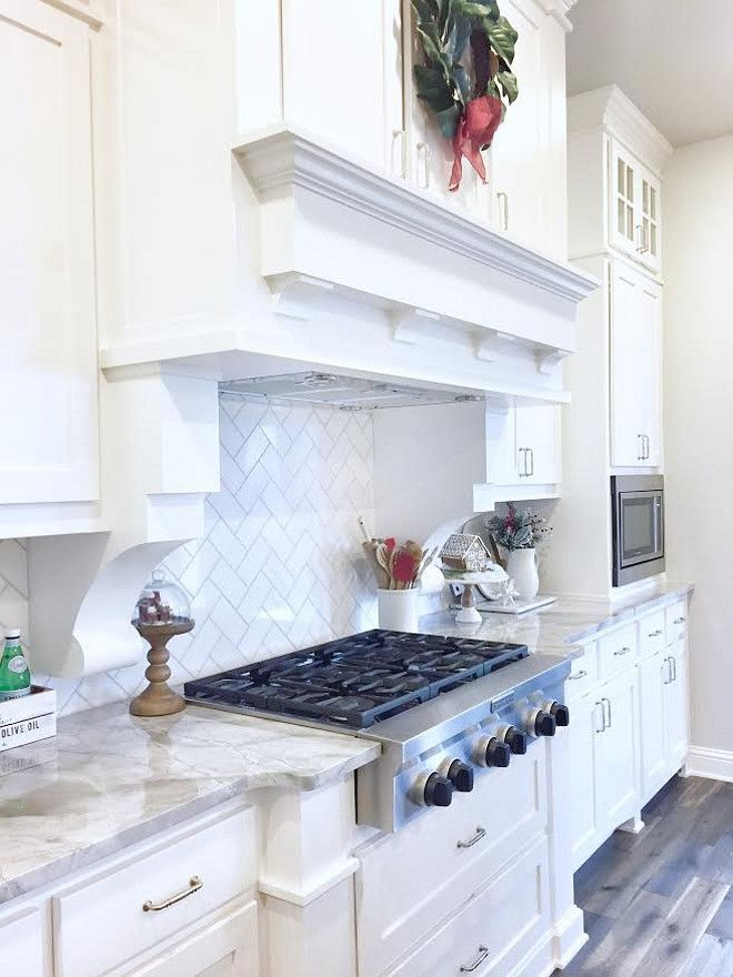 White Kitchen Cabinet Paint Color Is Sw Pure The Backsplash Daltile M313 Contempo Marble 3 6 Tile