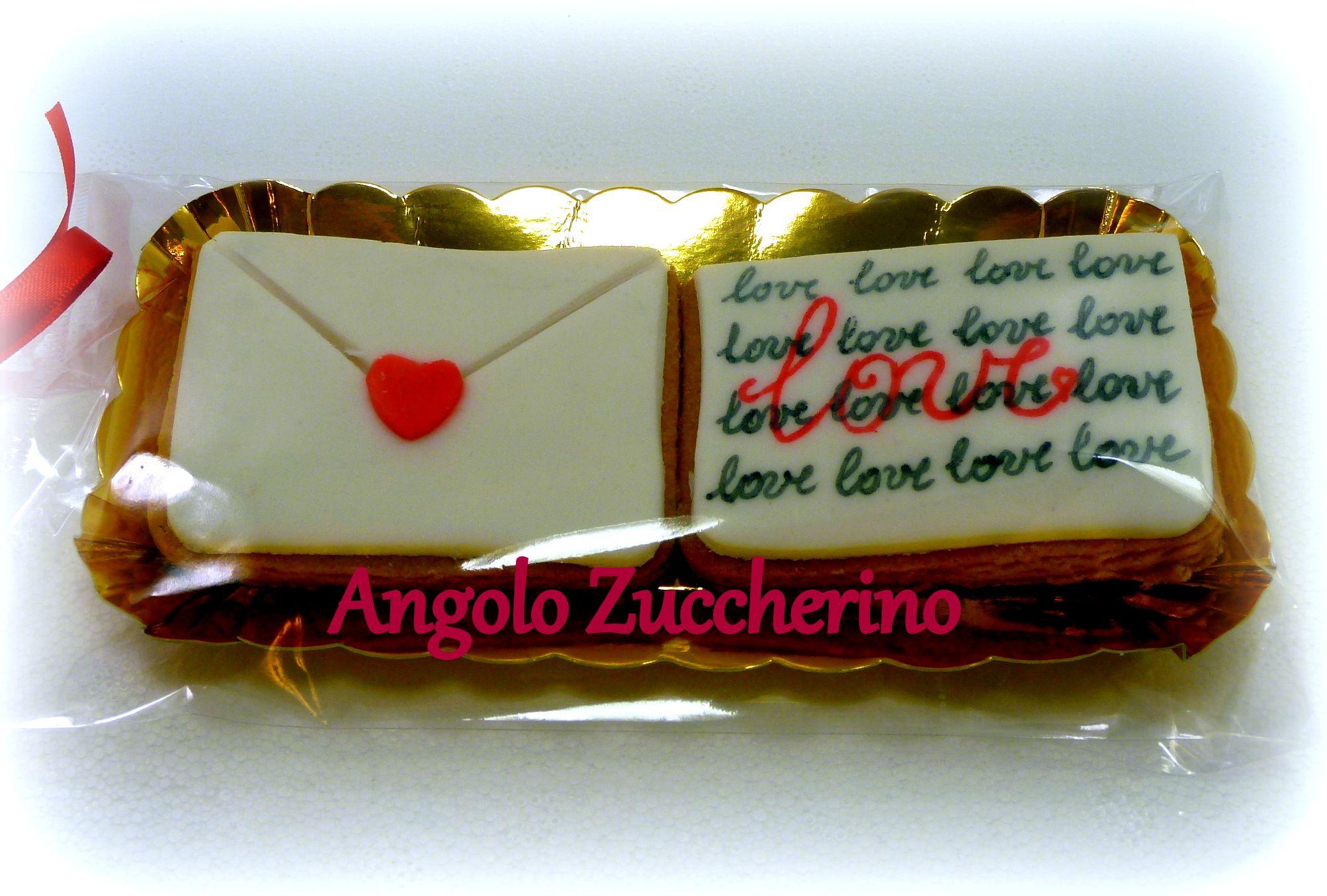 Decorazioni Lettere D Amore lettera d'amore, biscotto e pasta di zucchero idea san
