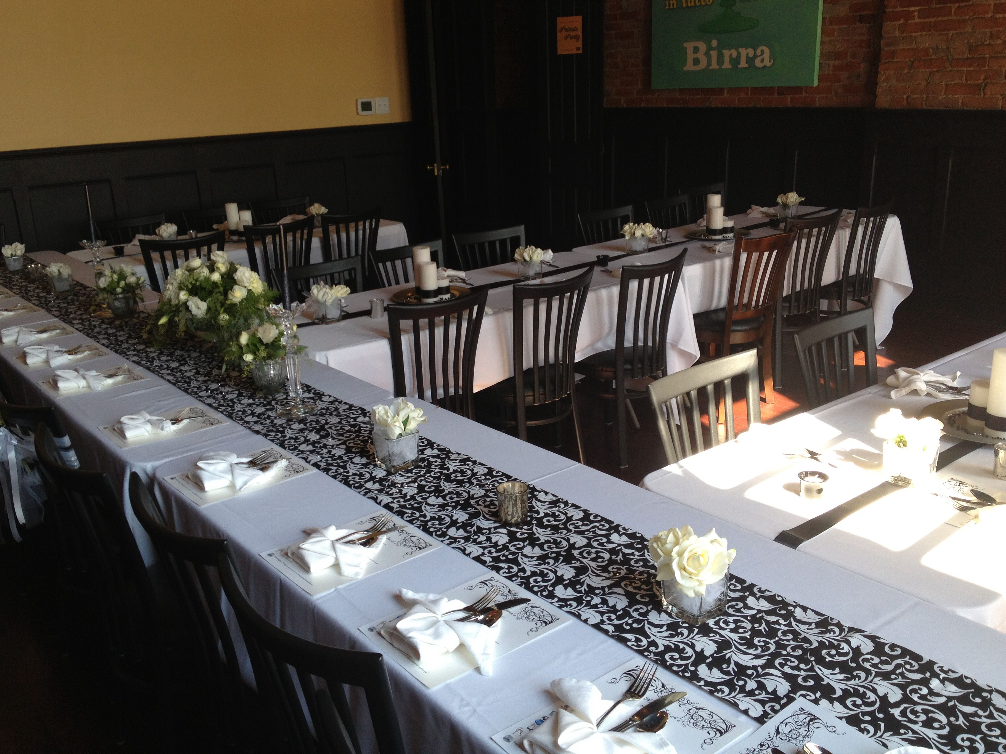 wedding rehearsal dinner table decor ideas