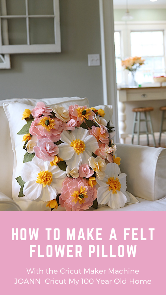 How to Cut and Make a Felt Flower Pillow with the Cricut Maker