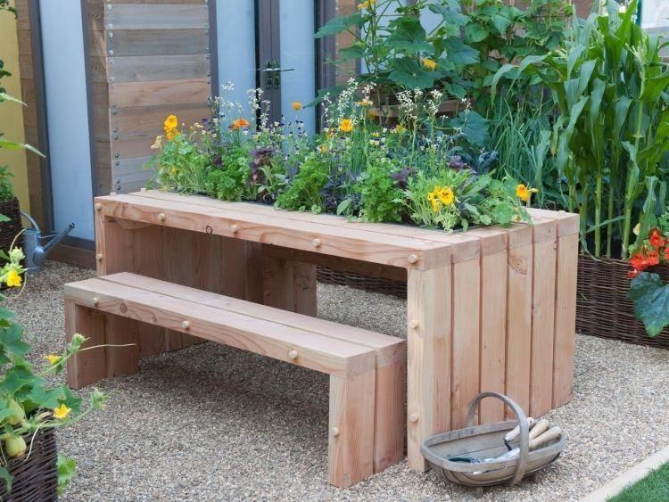 Bac à fleurs en bois à faire soi-même- plus de 52 idées DIY Centre