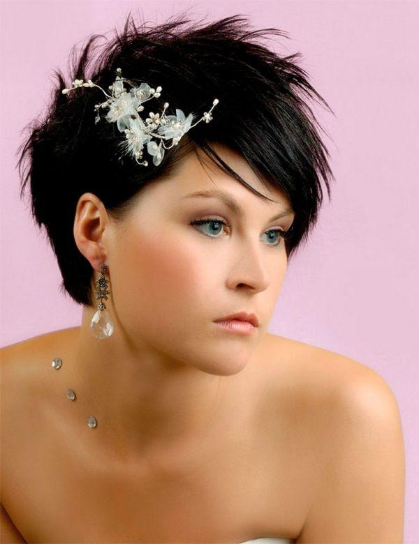 Brautfrisur kurze haare hochzeit