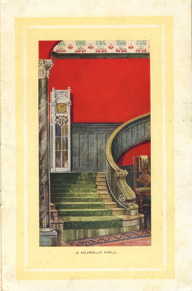 """A Muralo Hall,  Smithsonian Institution Libraries : """"Muralo"""" Wall Coatingsin the home beautiful"""