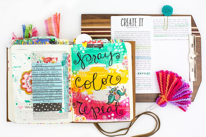 Pray Color Repeat | Amy Bruce is sharing with us what she's learning from the Illustrated Faith Created To Create devotional that we can be creative in so many different ways, not just artistically