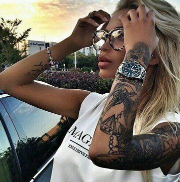 Ideales diseos de tatuajes para mujeres morenas Pinterest Mujer