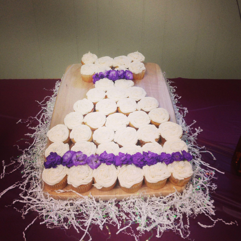 Cupcake Wedding Dress Cake Cuppy Cakes