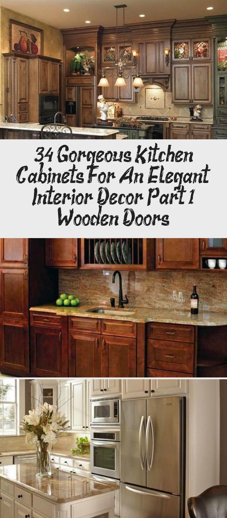 Photo of 34 Gorgeous Kitchen Cabinets For An Elegant Interior Decor Part 1- Wooden Doors – DECORATION
