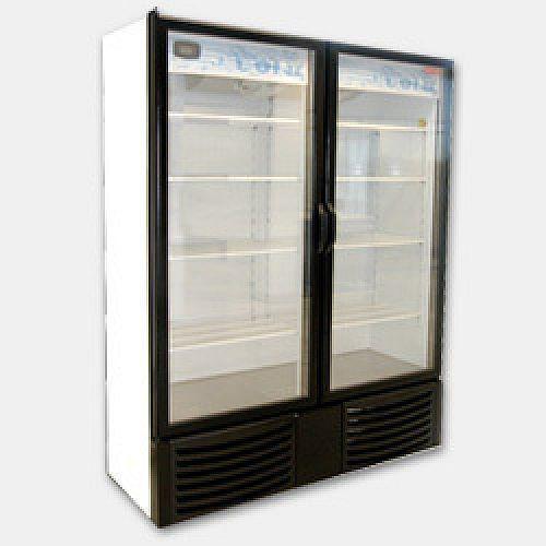 New 2 Full Door Glass Display Cooler Refrigerator 28 Cu Glass Door Locker Storage Cooler