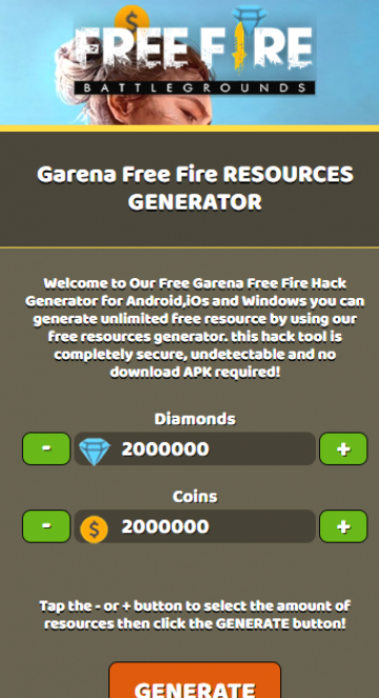 Free Fire Online Generator Tool : online, generator, Garena, Online, Generator, Hacks,, Fire,, Hacks