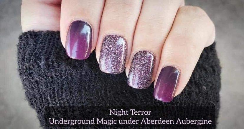 Color Street purple combo  night terror on Mercari