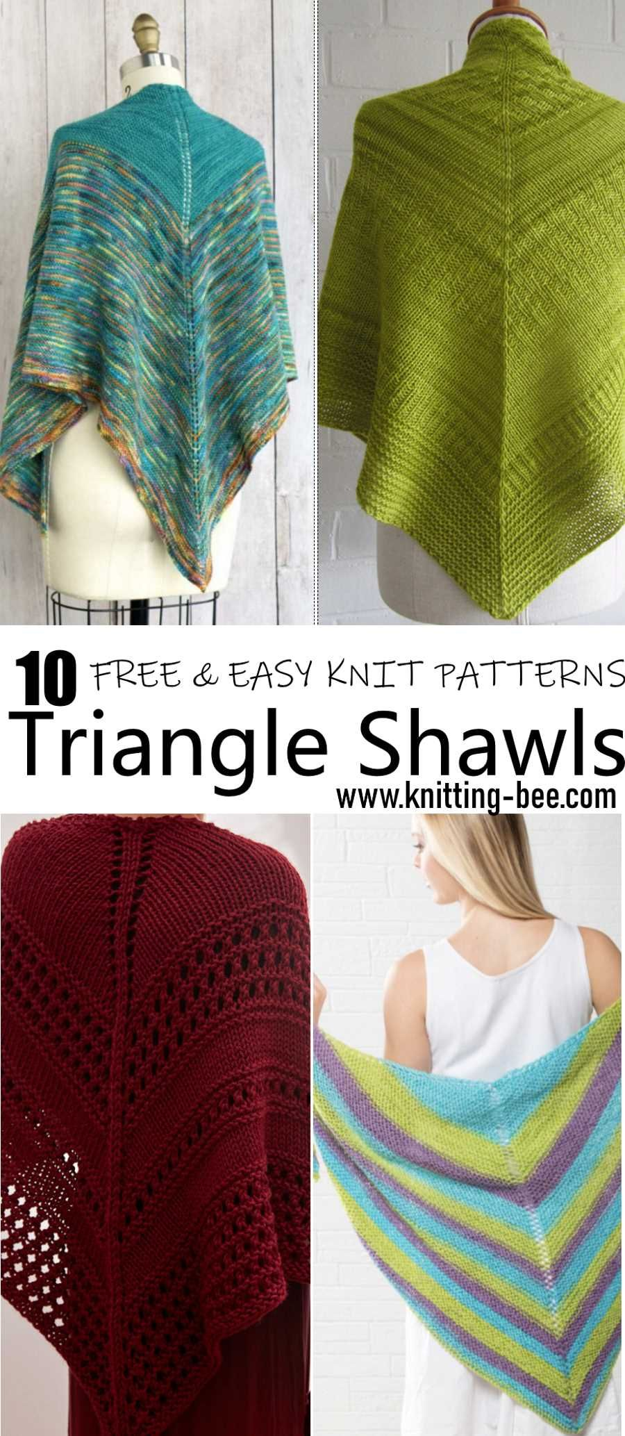 10 Easy and Free Triangle Shawl Knitting Pattern | 2018 craft ...