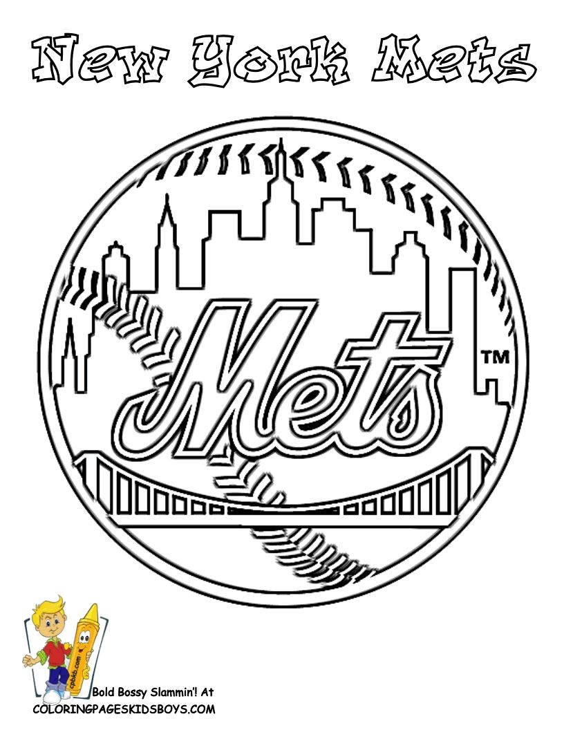 New York Mets Coloring Pages To Print