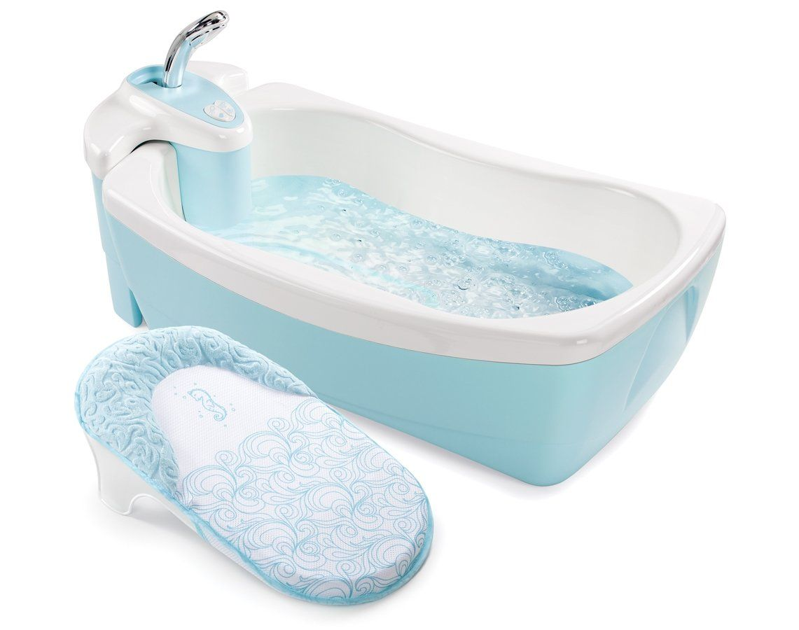 Summer Infant Lil Luxuries Whirlpool Bubbling Spa And Shower Tub Blue Banho Bebe Banheira De Bebe Itens Essenciais Para Bebe