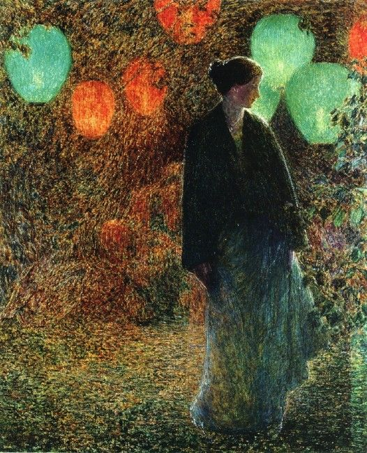 Frederick Childe Hassam >> July Night  |  (Oil, artwork, reproduction, Art, Fanta, Agua Fría, Patatas)