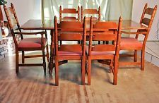 Vintage Antique Maple Dining Room Table And Six Chairs Angelus Furniture  Company