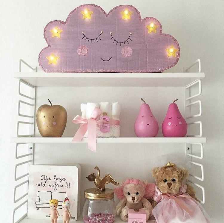Wolken lampe aus karton und lichterkette basteln bastelln - Lampe kinderzimmer basteln ...