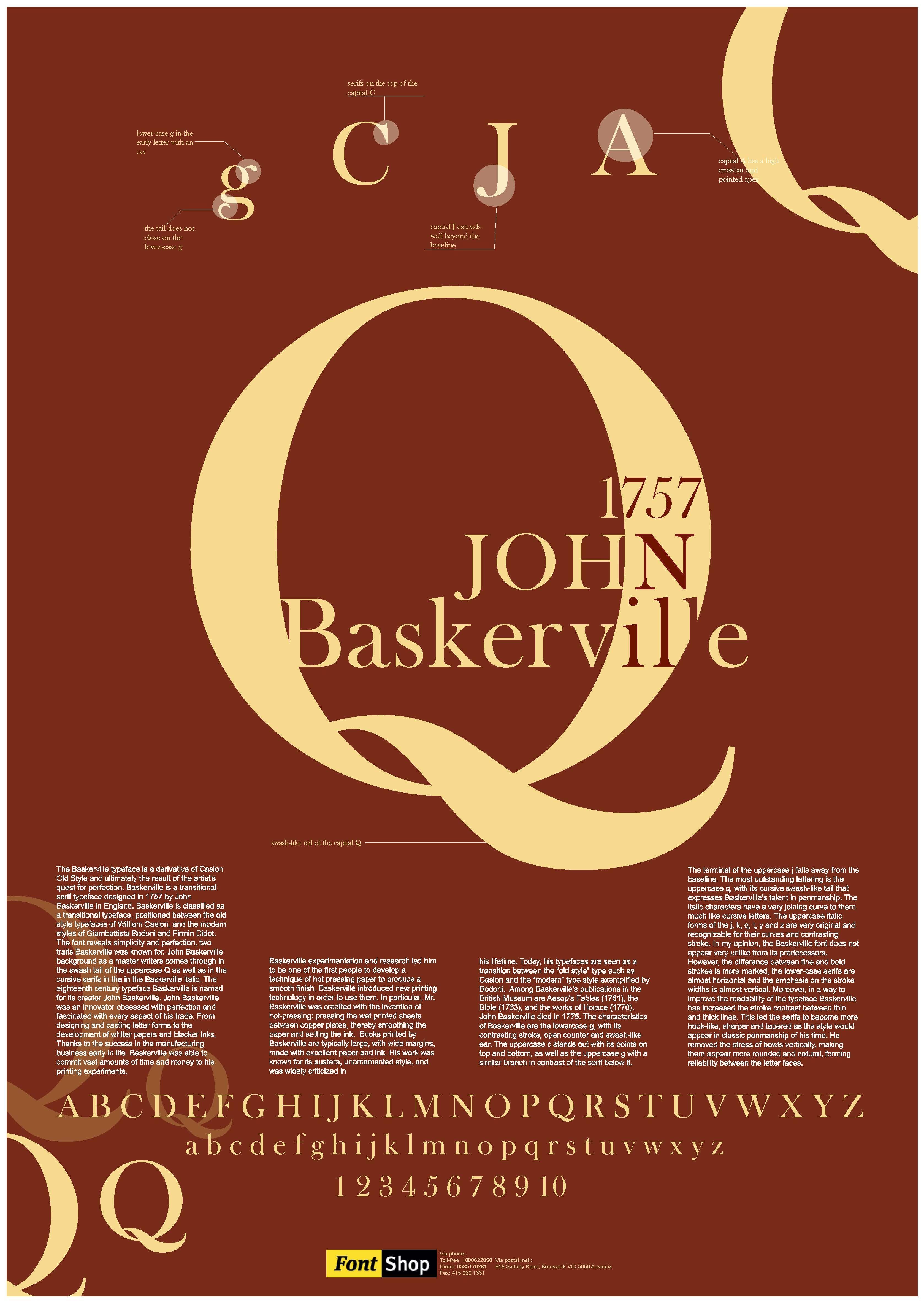 Poster design creator - Baskerville Font Poster