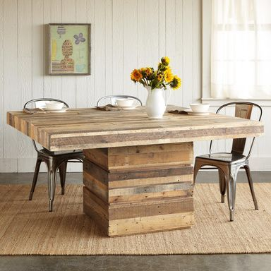 Square Wood Dining Tables rustic dining pallet tables - google search | dining room