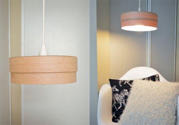 Learn How To Make A Wood Veneer Lampshade Lamp Brightnest Blog Easy And Very Inexpensive Wood Lamp Design Diy Pendant Light Wooden Lamps Design