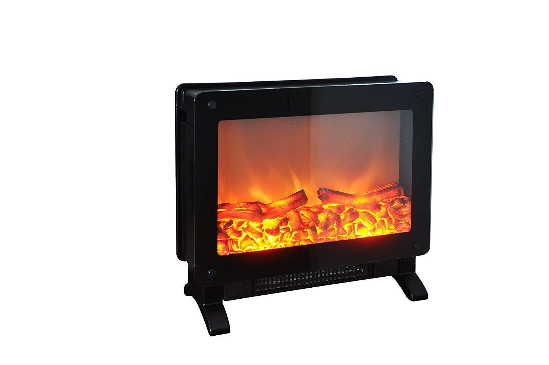 Marino Free Standing Electric Fireplace Stove 19 5 Inch Black Portable El Free Standing Electric Fireplace Portable Electric Fireplace Space Heater Fireplace