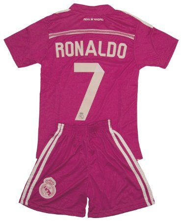 premium selection 0b7d7 3c955 49% OFF| Real Madrid Kids RONALDO #7 Pink Away Jersey ...