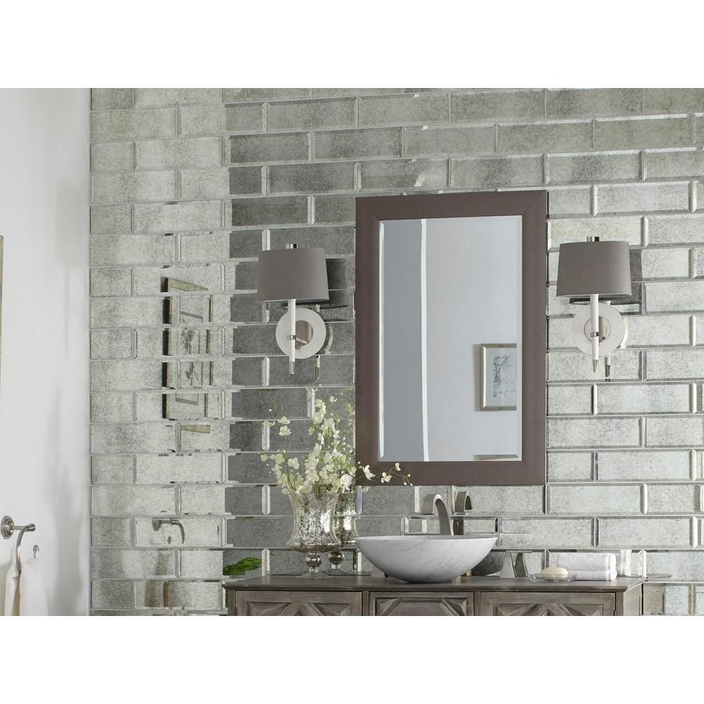 Antique Mirror Beveled Glass Tile Floor Decor Antique Mirror Glass Mirror Tiles Bathroom Mirror Backsplash Kitchen