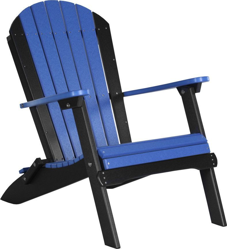 LuxCraft Recycled Plastic Folding Adirondack Chair