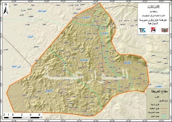 اليمن وباء غريب يقتل 6 مواطنين في الوزاعية بتعز و10 مصابين بين الحياة والموت في المستشفيات Map Lae Map Screenshot