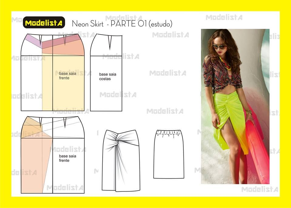 Neon skirt parte 01. Fonte: https://www.facebook.com/photo.php?fbid ...