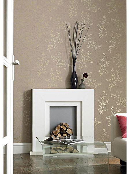 Creammica Bijou Wallpaper Wallpaper Pinterest Wallpaper - Brown and cream wallpaper