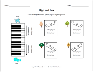 Free Printable Music Worksheets | Opus Music Worksheets | Music ...